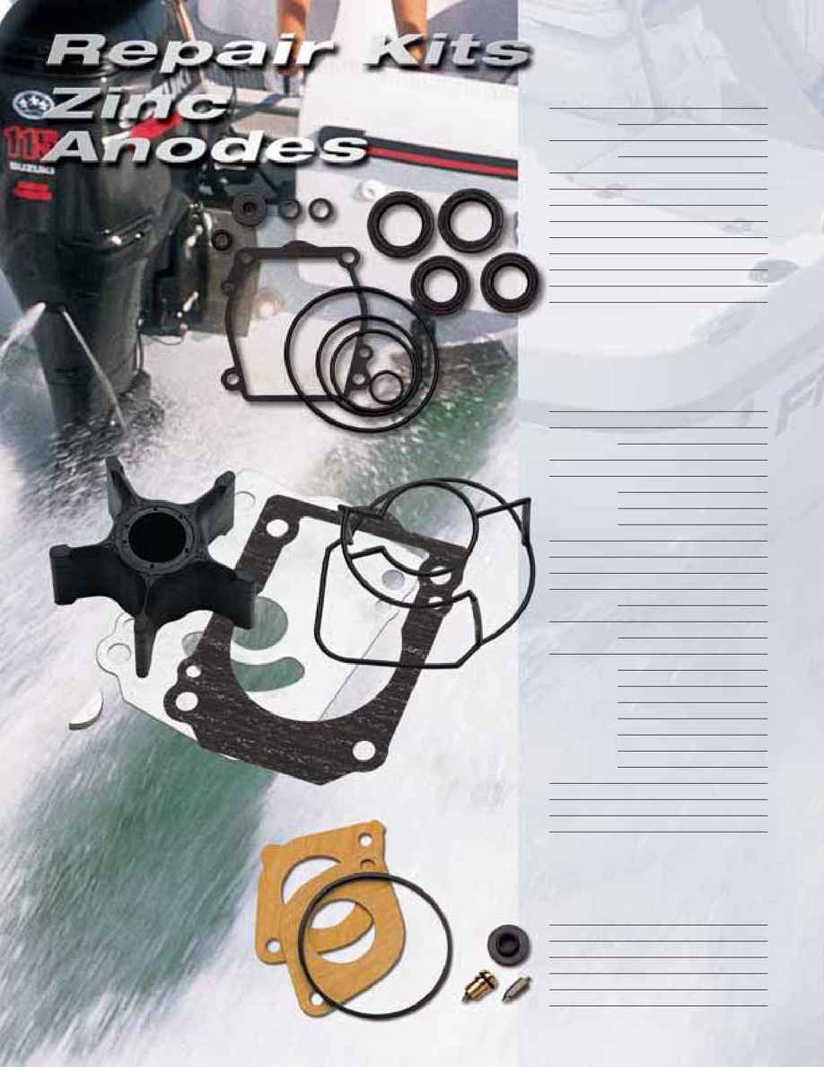 Suzuki - 2005 repair kits anodes