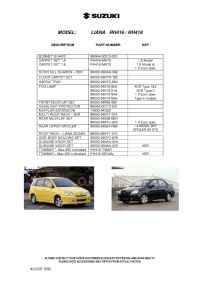 Suzuki - Liana RH 416 RH 418