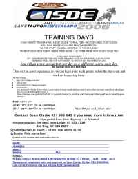 Suzuki - ISDE Training days
