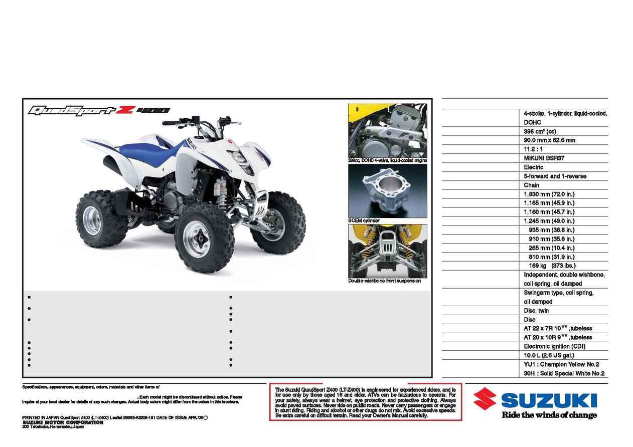 Suzuki Lt Z 400 K 6  Page 2