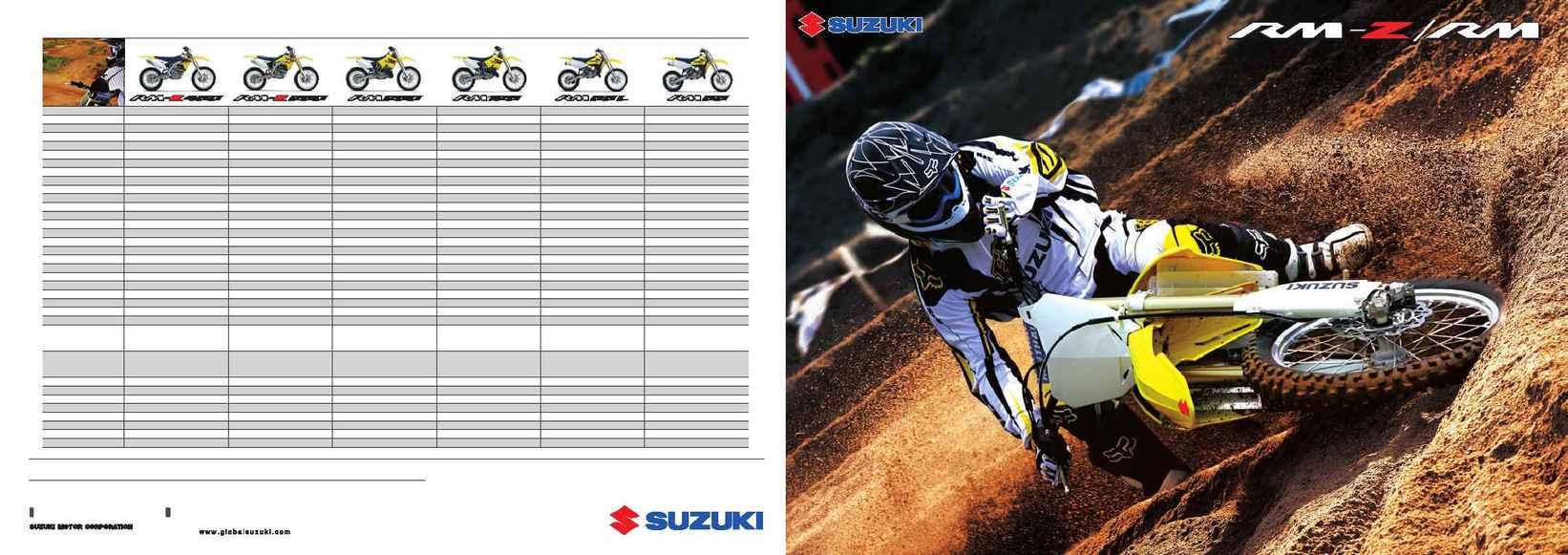 Suzuki - RM K 8 range brochure