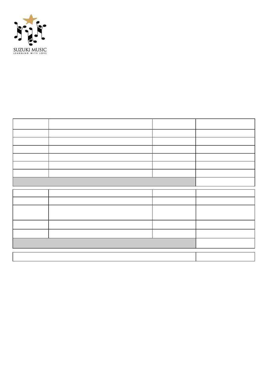 Suzuki - Mini Festival Application Form 2008