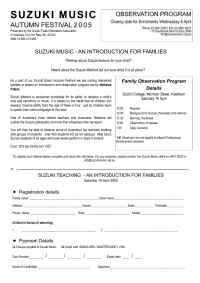Suzuki - Family Observers Application Form PDF