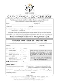Suzuki - Grand Annual Concert Application 2005