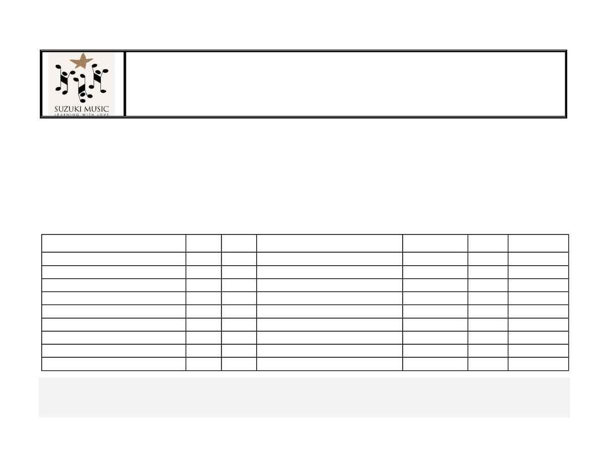 Suzuki - Piano Grad Concert Form Series 22005