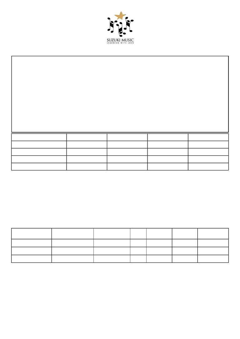 Suzuki - 2007 Family Membership Form