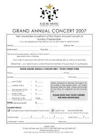 Suzuki - GAC registration and ticket order form