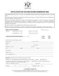 Suzuki - Teacher Membership