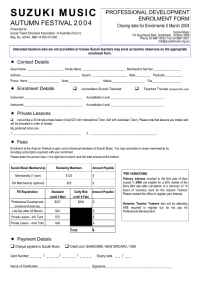Suzuki - PDApplication Form
