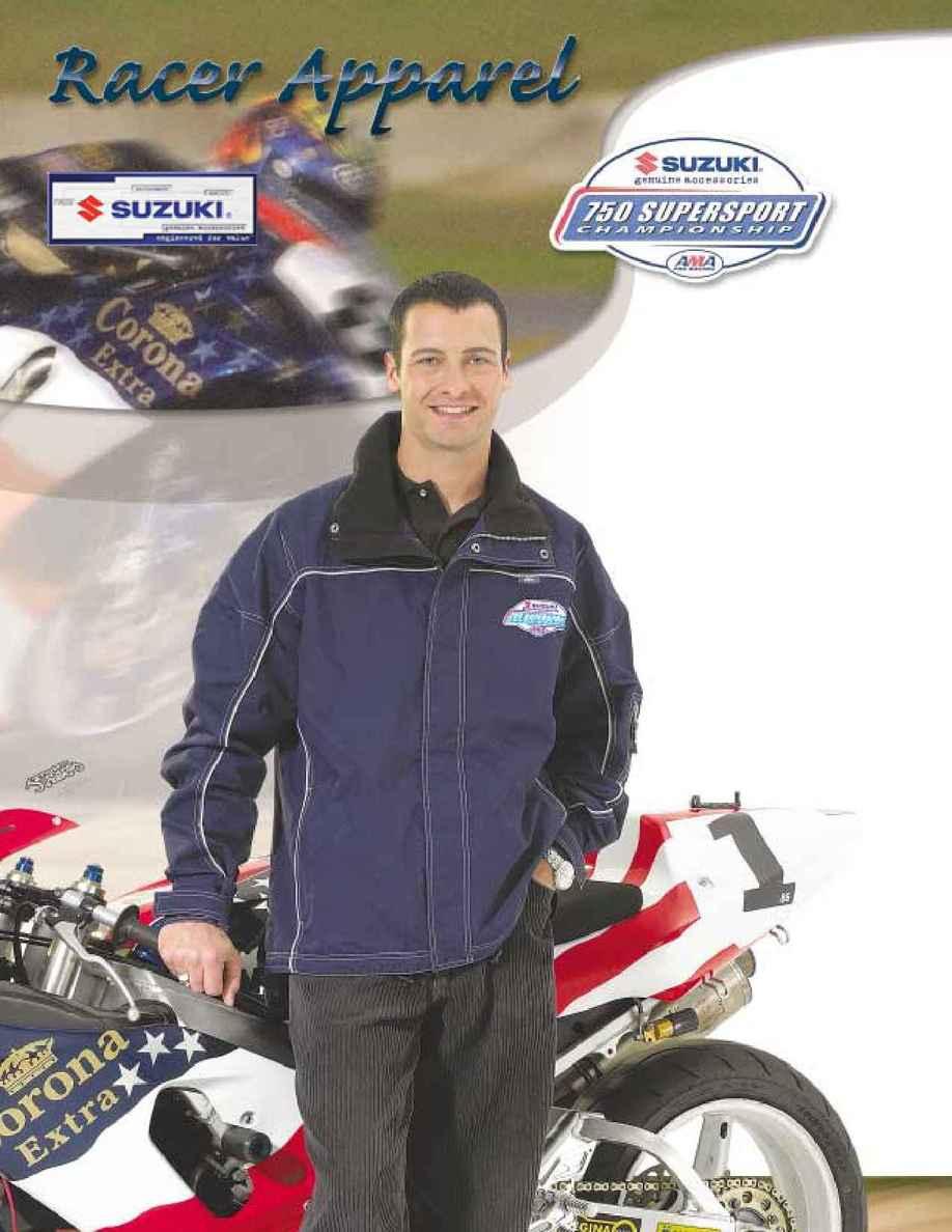 Suzuki - 2002 racer apparel