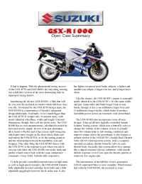 Suzuki - bro gsx 1000