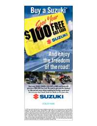 Suzuki - 100 Gas Card Promo