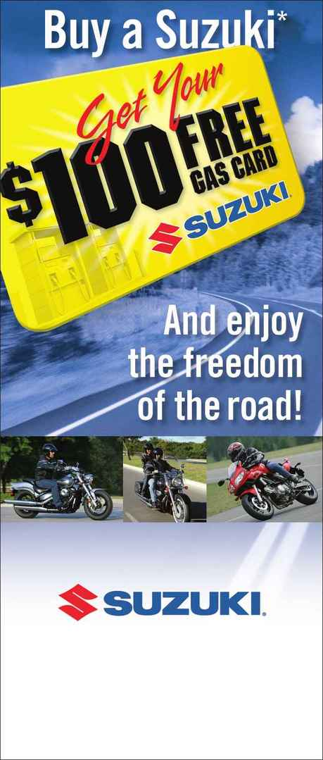 Suzuki - 100 Gas Card Promo
