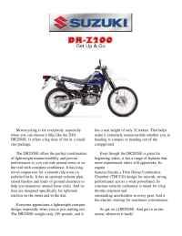 Suzuki - bro dr 200