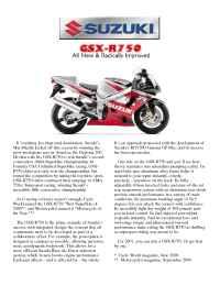 Suzuki - bro gsx 750