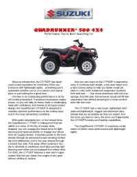 Suzuki - bro qu 500