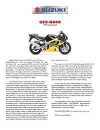 Suzuki - bro gsx 600