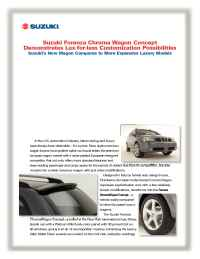 Suzuki - chroma wagon 1 sheet