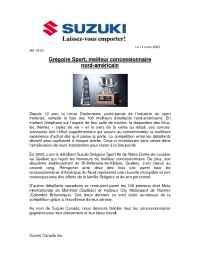Suzuki - Gregoire Award F