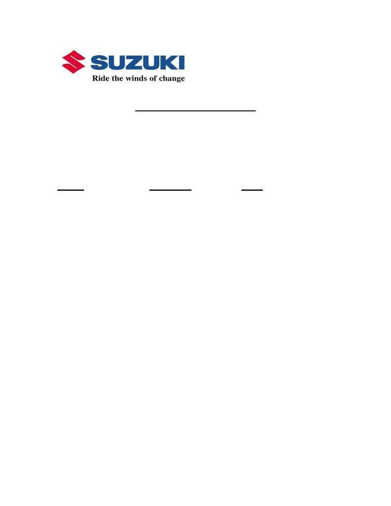 Suzuki - Last Minute Addition