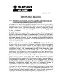 Suzuki - Marine Bulliten new V 6 models F