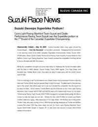 Suzuki - Suzuki Race News Rd 1 2003