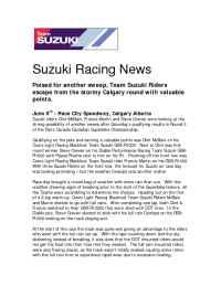 Suzuki - Suzuki Race News Rd 2 2003