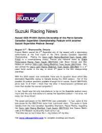 Suzuki - Suzuki Race News Rd 8 2003