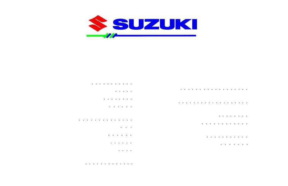 Suzuki 2002 New Vehicle Warranty Maintenance Information