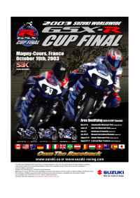 Suzuki - GSX R CUP AD ENG
