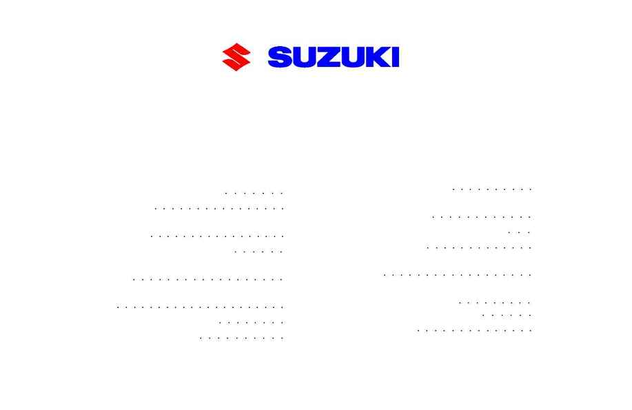 Suzuki - ATV Warranty Booklet Web F