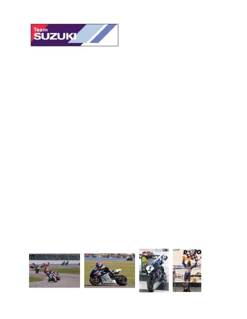 Suzuki - 2004 Daytona Suzuki Press Release French
