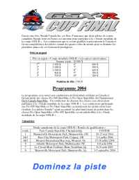 Suzuki - 2004 Worldwide GSX R Cup Program Details FR