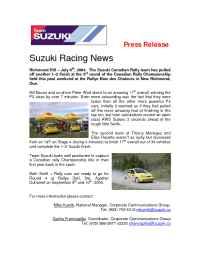 Suzuki - A00005 04 Rallye Baie des Chaleurs