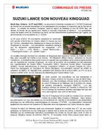 Suzuki - ATV 001 04 Suzuki Launches New King Quad FR