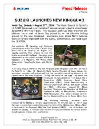 Suzuki - ATV 001 04 Suzuki Launches New King Quad