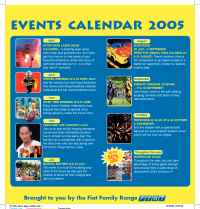 Lego - LLW events calendar 2005