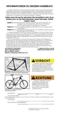 Trek Bicycle Corporation - 04 bike owners manual de