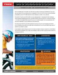 Trek Bicycle Corporation - 06 TK Carbon Care Flyer dk