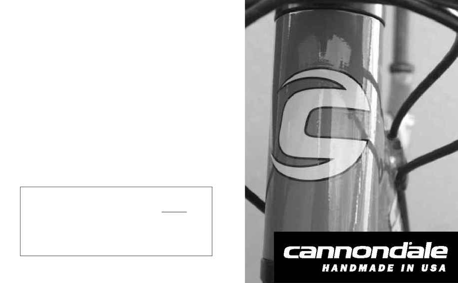 Cannondale Bicycle Corp. - 2000 OM