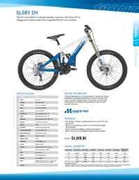 Giant bicycles - Glory DH