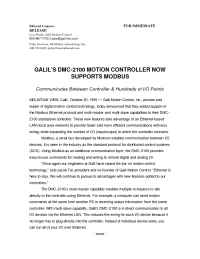 Galil Motion Control - pr 10 20 99