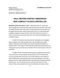 Galil Motion Control - pr 3 2 98