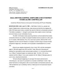 Galil Motion Control - pr 6 15 99