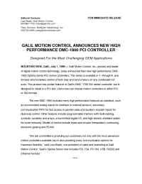 Galil Motion Control - pr 7 1 99