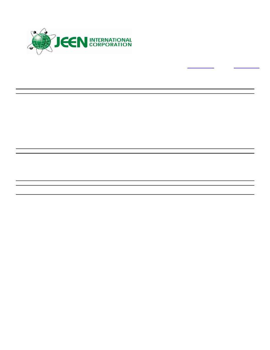 Jeen International - msds JEEMATE 1000 DPS