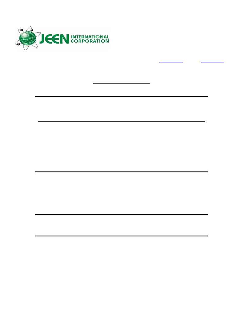 Jeen International - msds KALAYA OIL