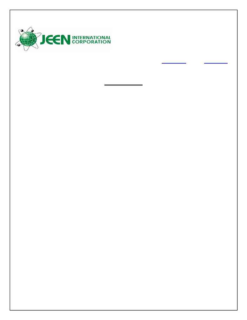 Jeen International - spec COTTONSEED OIL