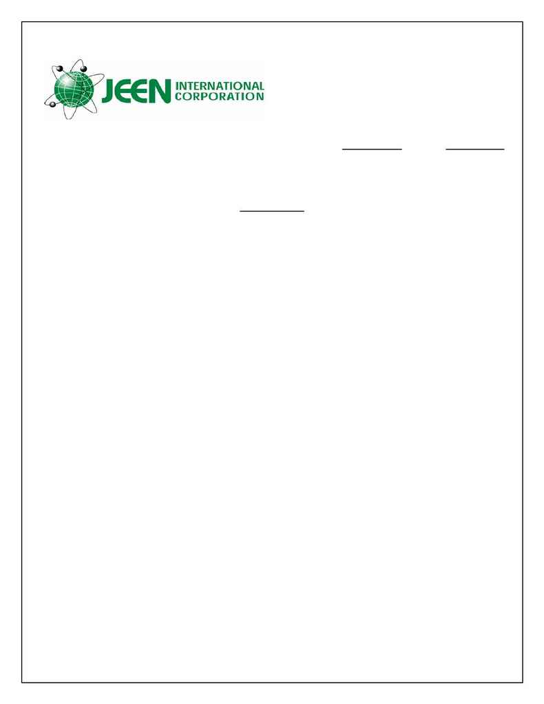 Jeen International - spec JEECHEM GC 30