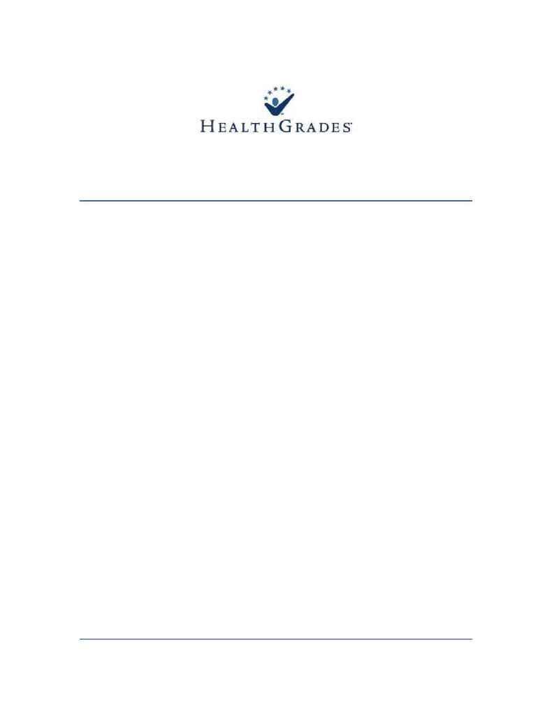 Health Grades - Americas 50 Best Hospitals Methodology